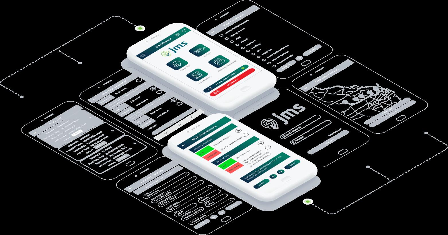 Journey Management System   JMS - safety app, Enhanced-UI-Image
