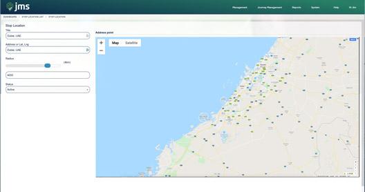 Journey Management System   JMS - Desktop & App view